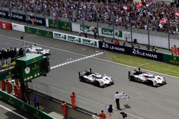 Wieder die Nase vorn: Wie so oft in den vergangenen Jahren gewann Audi auch 2014 in Le Mans. (Foto: Audi)