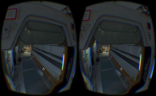 Alien Isolation auf dem Rift DK2 (Screenshot: Marc Sauter/Golem.de)