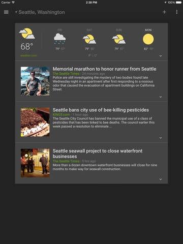 """App """"News & Wetter"""" für iOS (Bild: Google)"""