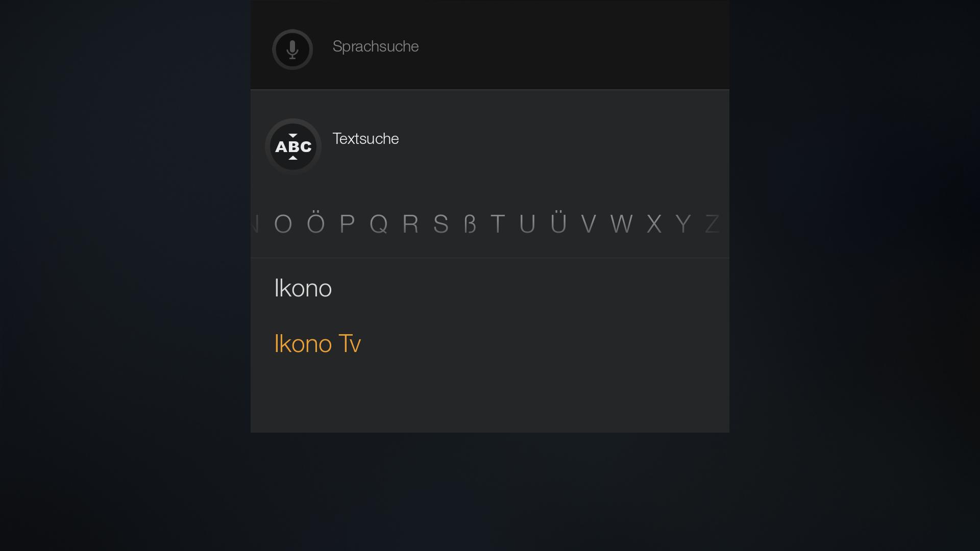 Workshop: Amazons Fire TV wird zur Multimedia-Zentrale - Ikono TV per Bildschirmtastatur suchen (Screenshot: Golem.de)
