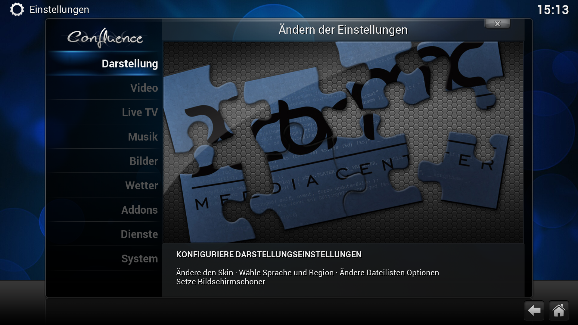 Workshop: Amazons Fire TV wird zur Multimedia-Zentrale - XBMC-Einstellungen (Screenshot: Golem.de)
