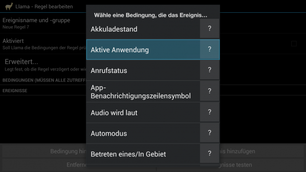 Neue Bedingung in Llama anlegen. (Screenshot: Golem.de)