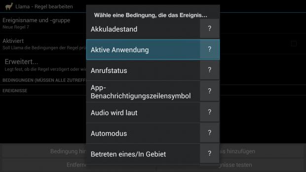 Neue Bedingung in Llama anlegen. (Screenshot: Golem.de)