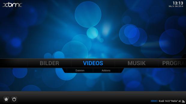 XBMC-Startbildschirm auf dem Fire TV (Screenshot: Golem.de)