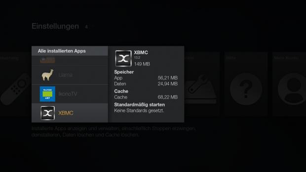 XBMC in der App-Übersicht (Screenshot: Golem.de)