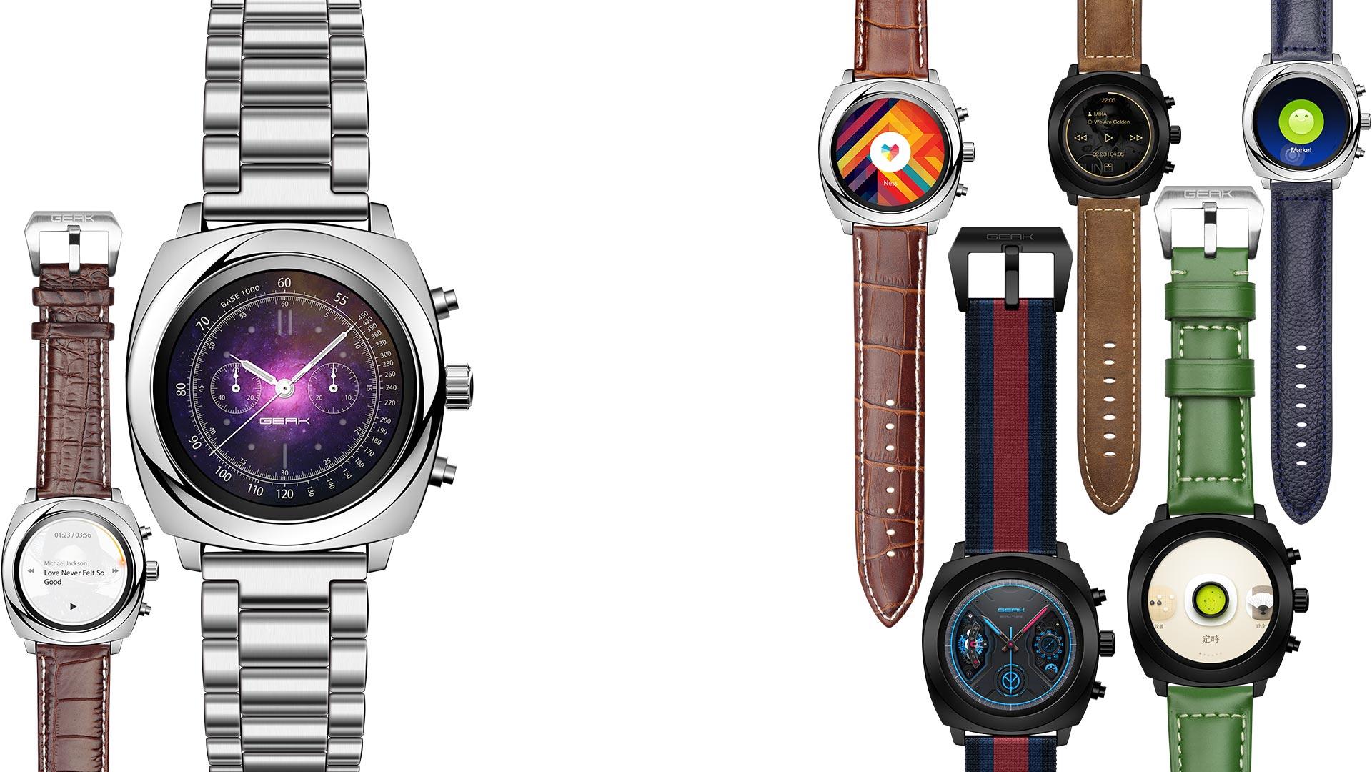 Geak Watch II: Smartwatch mit transflexivem Display und langer Akkulaufzeit - Geak Watch II (Bild: Geak)