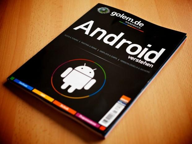 Das erste Druckwerk von Golem.de: das Heft Android verstehen. (Foto: Michael Wieczorek/Golem.de)