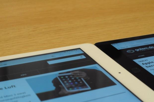 Das iPad Air der ersten Generation hat ein sichtbar tiefer liegendes Display... (Foto: Andreas Sebayang/Golem.de)
