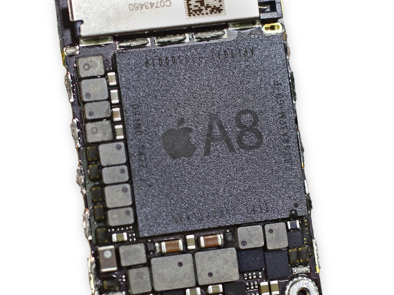 Smartphone-Prozessoren: Krieg der Kerne - Apples A8 (Bild: iFixit)