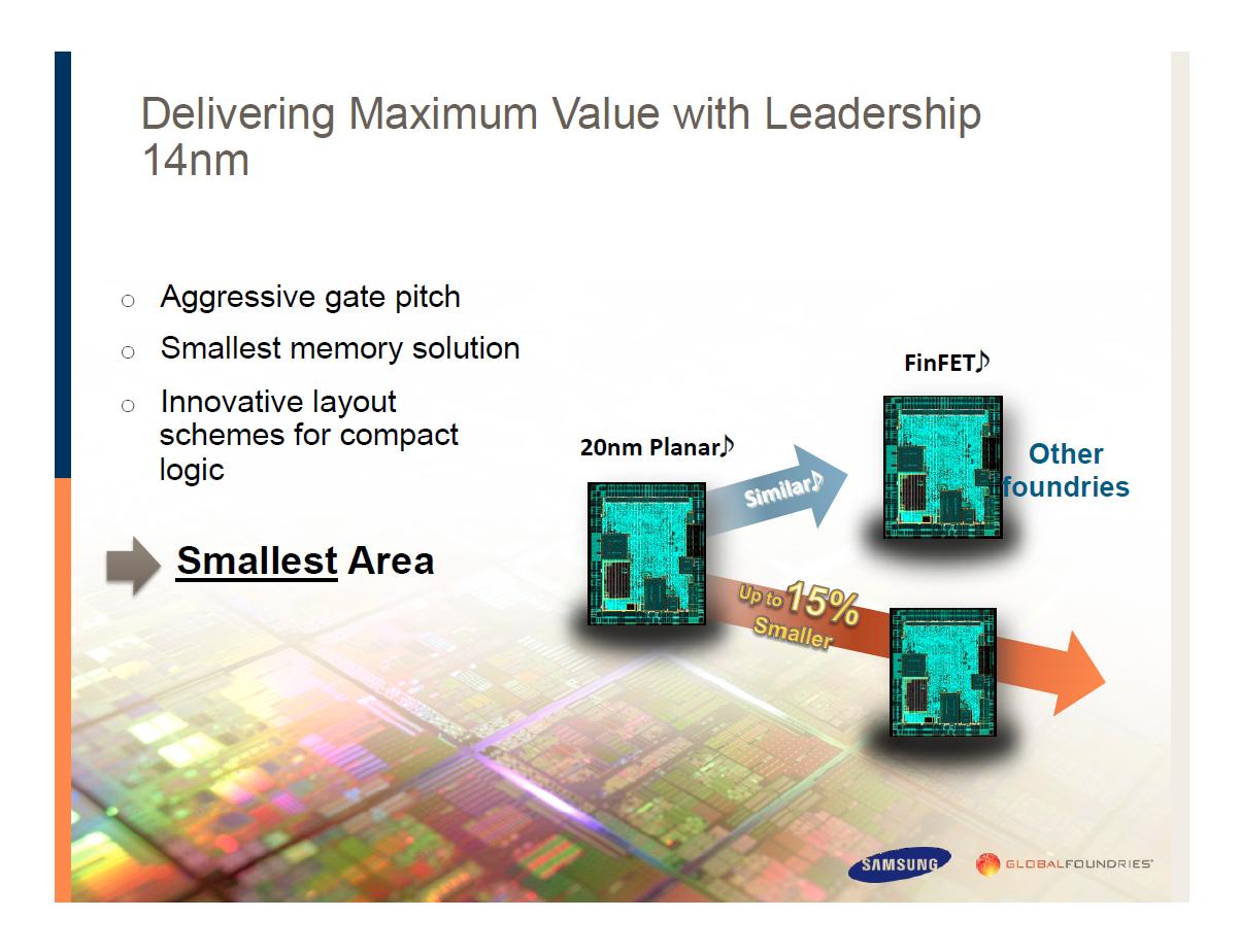 Smartphone-Prozessoren: Krieg der Kerne - Vorteile des 14-nm-FinFET-Prozesses (Bild: Samsung)