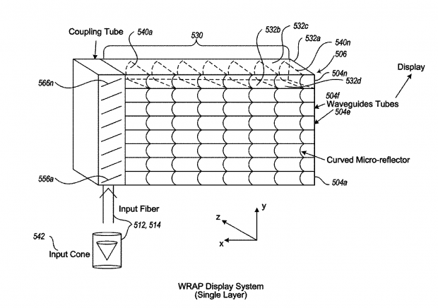Wave Guide Reflector Array Projector (Bild: Magic Leap)