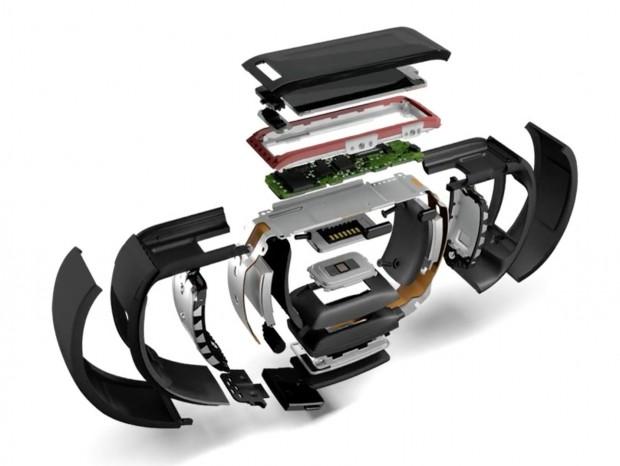 Microsoft Band in Einzelteilen (Bild: Microsoft)