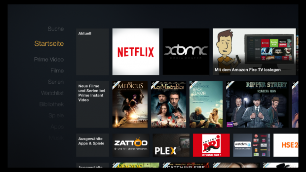 Deutsche Netflix-App auf Amazons Fire TV (Screenshot: Golem.de)