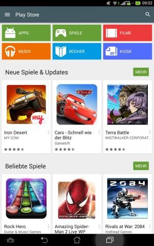 Startseite des neuen Play Stores(Screenshot: Golem.de)