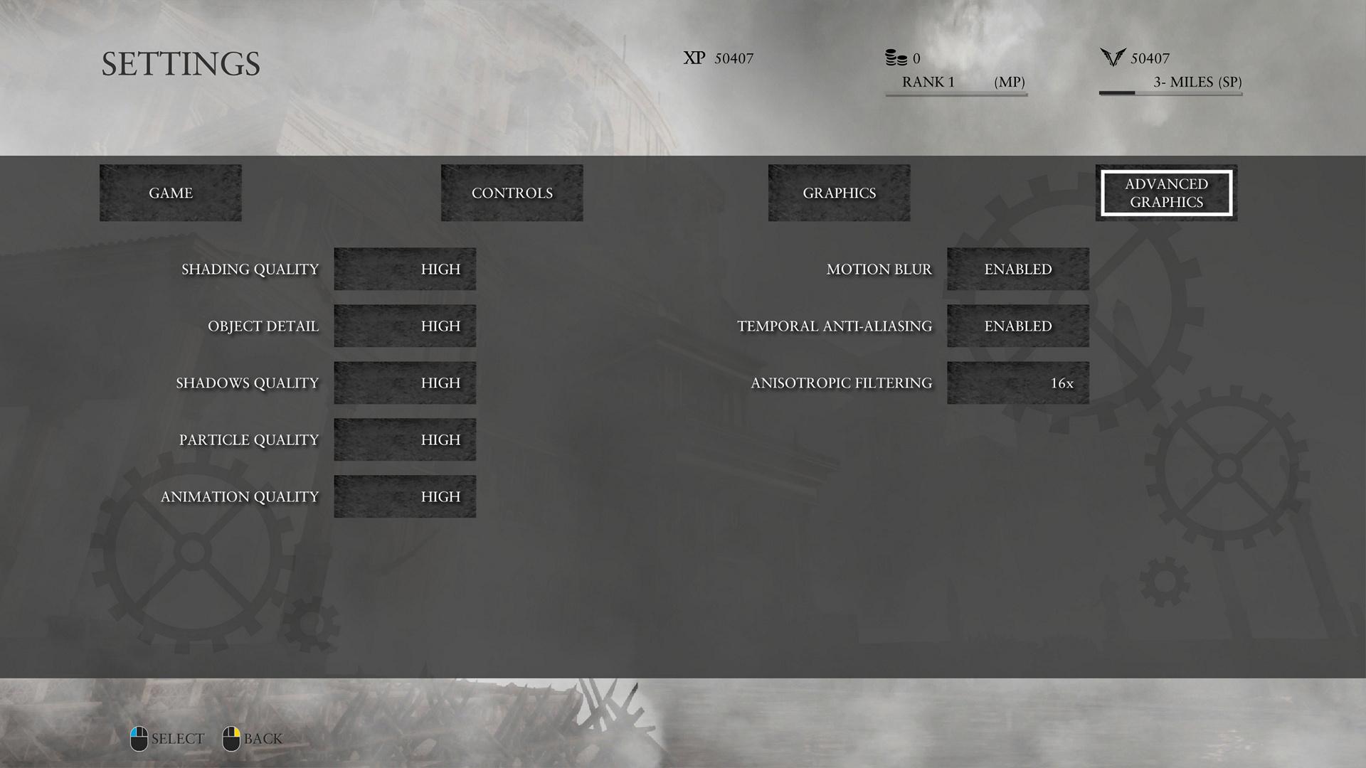 Ryse im Technik-Test: Römer-Attacke auf die Grafikkarte - Erweiterte Optionen, beispielsweise TAA (Screenshot: Marc Sauter/Golem.de)