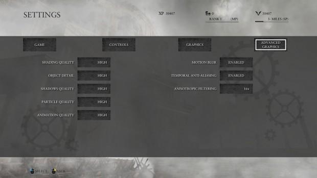 Erweiterte Optionen, beispielsweise TAA (Screenshot: Marc Sauter/Golem.de)