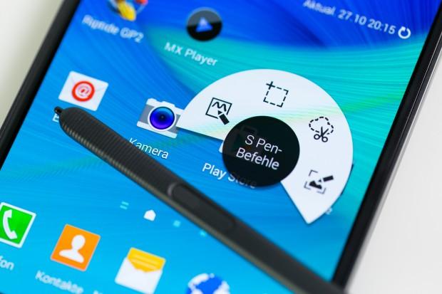 Die Stiftfunktionen hat Samsung erweitert. (Bild: Tobias Költzsch/Golem.de)