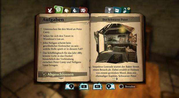Zentrales Ermittlungsinstrument ist das Notizbuch. (Screenshot: Golem.de)