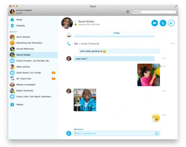 Skype 7 für OS X (Bild: Microsoft)