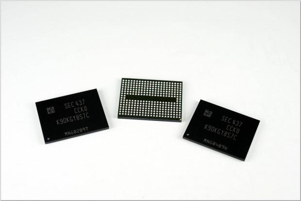 Mehrere Speicherchips mit V-NAND (Bild: Samsung)