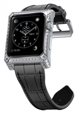 Apple Watch mit Diamantverzierung und neuem Gehäuse (Konzeptgrafik: Yvan Arpa)