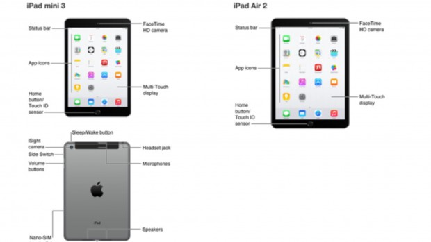 iPad Air 2 und iPad mini 3 (Bild: Apple/Screenshot: golem.de)