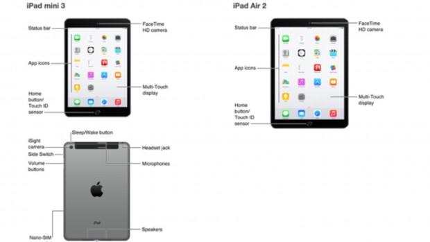 iPad Air 2 und iPad mini 3 (Bild: Apple/Screenshot: golem.de)
