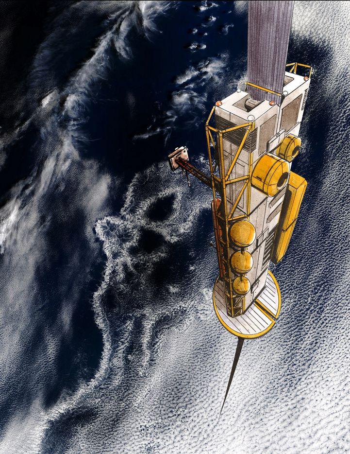 Spacelift: Der Fahrstuhl zu den Sternen - Von dort aus tritt der Climber seine Reise ins All an. Er steigt bis auf 36.000 km. (Bild: Liftport Group)