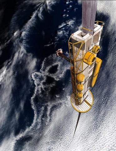 Von dort aus tritt der Climber seine Reise ins All an. Er steigt bis auf 36.000 km. (Bild: Liftport Group)