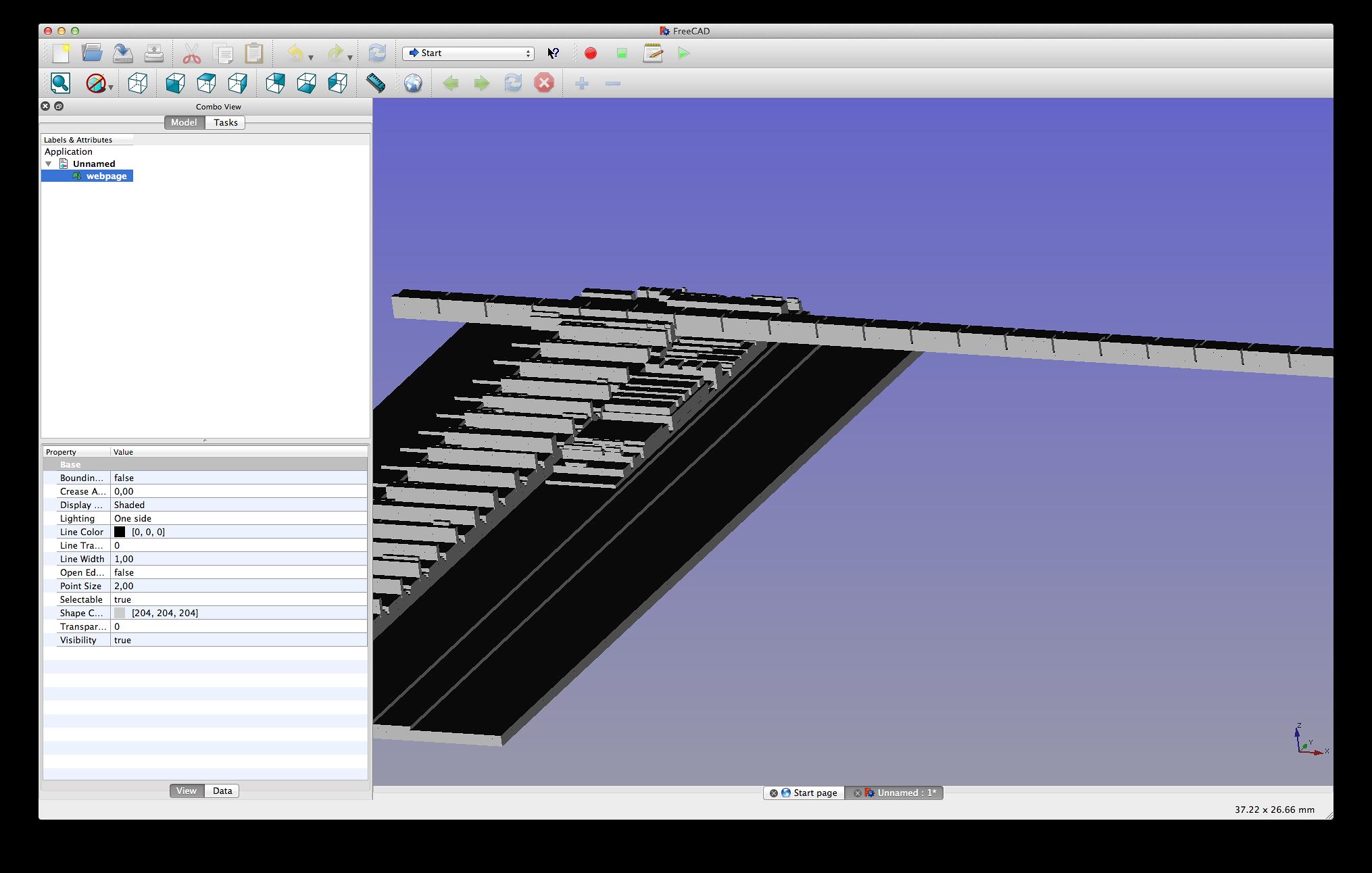 3D-Druck ausprobiert: Internetausdrucker 4.0 - Die generierte Obj-Datei kann zum Beispiel in FreeCAD geladen werden. (Bild: Alexander Merz/Golem.de)