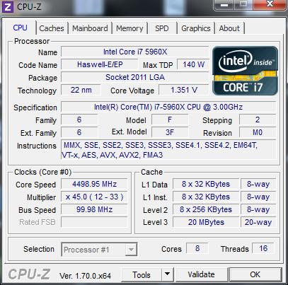 4,5 GHz sind recht einfach machbar. (Screenshot: Golem.de)
