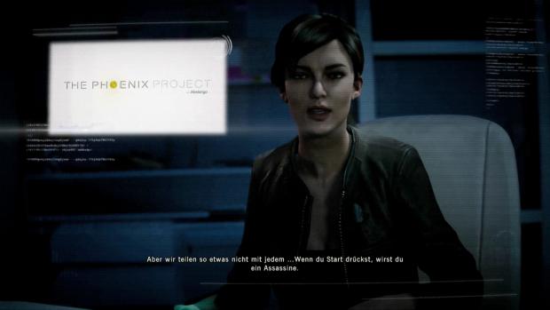 Diese junge Dame ist für den Gegenwartsteil der Handlung mit zuständig. (Screenshot: Golem.de)