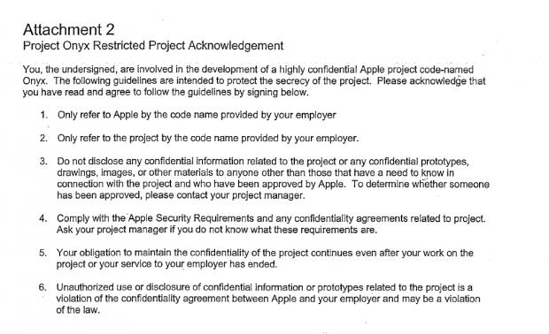 Die Vorschriften für den einzelnen Mitarbeiter - Apple darf nicht genannt werden. (Screenshot: Golem.de)
