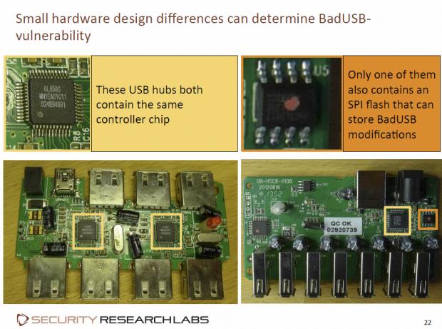 Gleicher Controller, aber nur der rechte Hub ist verwundbar. (Folie: Karten Nohl/Screenshot: Golem.de)