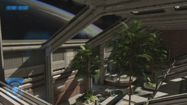 Halo 2: Auf Knopfdruck wechselt der Spieler zwischen neuer ... (Screenshot: Golem.de)