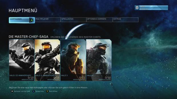 Das Hauptmenü gewährt schnellen Zugriff auf die Kampagnen und die Multiplayermodi. (Screenshot: Golem.de)
