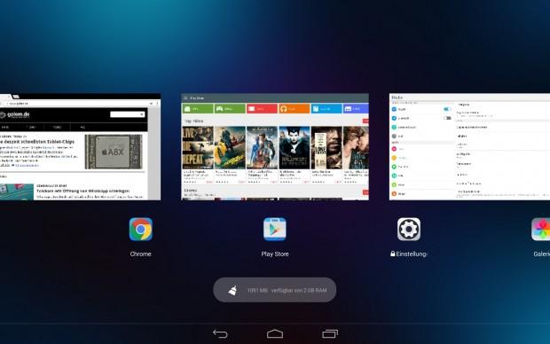 Lenovos neue Task-Übersicht (Screenshot: Golem.de)