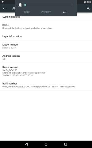 Omni ROMs Lollipop-Build auf einem Nexus 7 (Bild: Omni ROM)