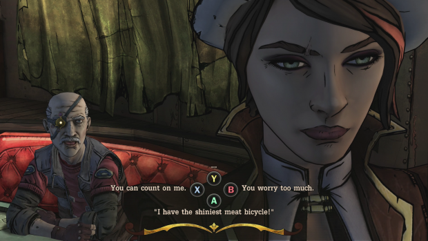 Innerhalb eines Zeitlimits muss der Spieler als Fiona eine Antwort auswählen. (Screenshot: Golem.de)