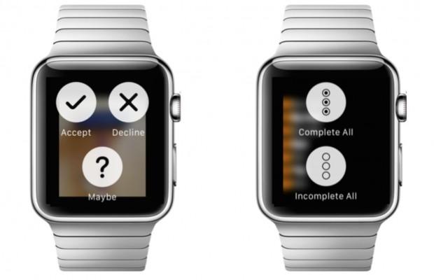 Menü mit drei Aktionen (Bild: Apple)