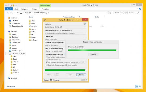 Linux-Image per Rufus (Screenshot: Golem.de)
