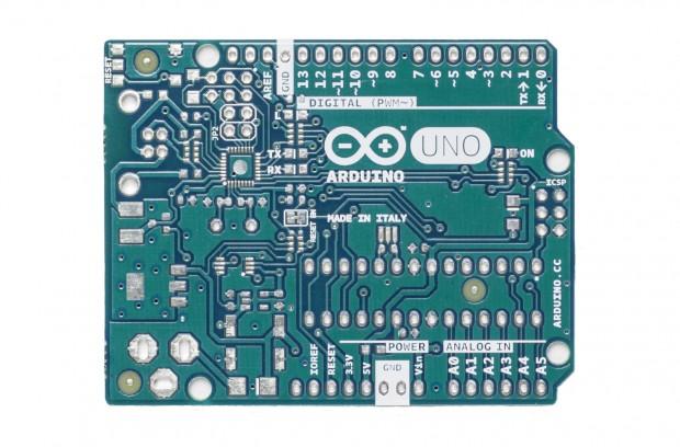 Arduino-Platine: Frontseite im neuen grün-blauen Farbton (Foto: Arduino)