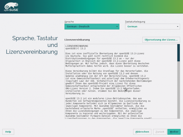 Der überarbeitete Installer in Opensuse 13.2... (Screenshots: Golem.de)