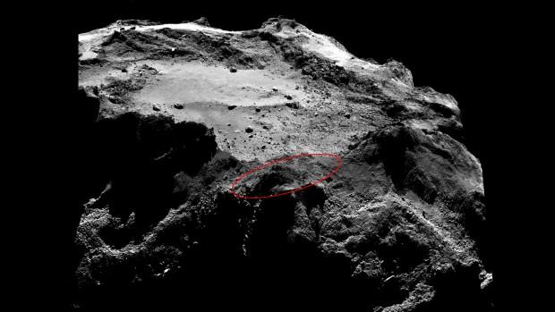 Noch hat Rosetta den genauen Landeort von Philae nicht entdeckt und ... (Foto: Esa/Rosetta/MPS for Osiris Team MPS/UPD/LAM/IAA/SSO/Inta/UPM/DASP/IDA)