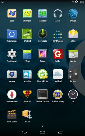 Ohne die Google-Apps sieht Android zunächst etwas karg aus. (Screenshot: Golem.de)