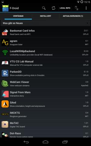 Apps besorgt man sich am besten in alternativen App-Shops wie F-Droid ...