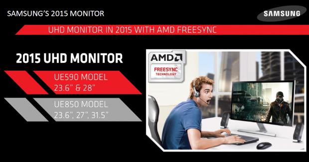 UHD-Monitore mit Freesync (Bild: Samsung)