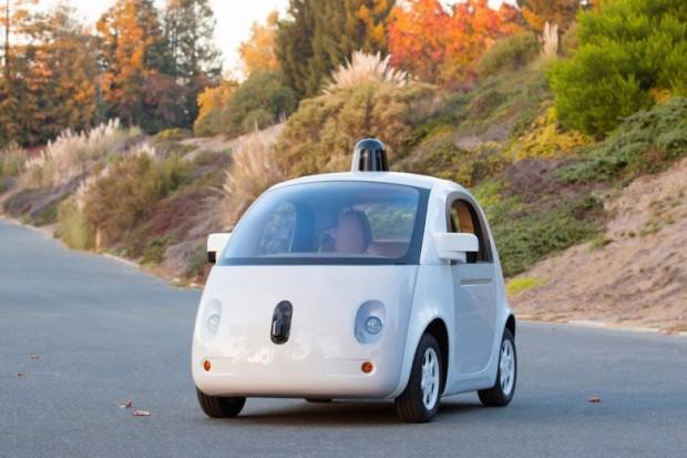 Googles fahrerloses Auto vom Dezember 2014 (Bild: Google)