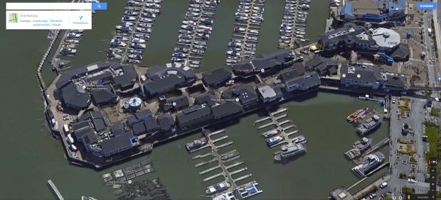 Am Pier 39 funktionieren Fotos und 3D perfekt. (Screenshot: Golem.de)