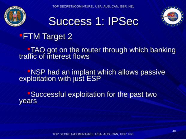 Beispiel einer erfolgreichen VPN-Attacke per Router (Folie: Spiegel/Screenshot: Golem.de)